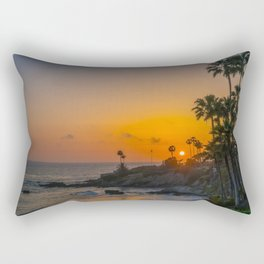 Tropical Sunset Rectangular Pillow