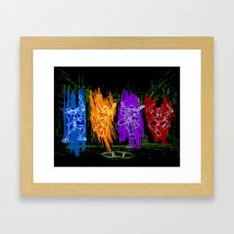 TMNT Rock Framed Art Print