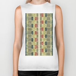 Colorful Geometric Shapes and Lines (Pattern Occurring) #05 Biker Tank