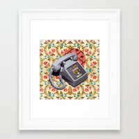 telephone Framed Art Prints featuring Telephone by Oleg Borodin