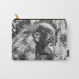 AnimalArtBW_OrangUtan_20170907_by_JAMColorsSpecial Carry-All Pouch