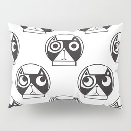 We are watching you. MEOW!!! (Space Cat) Pillow Sham