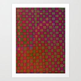 Manual Grid Fall Digital Art Print