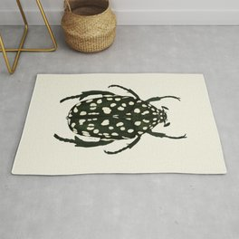green beetle insect Rug