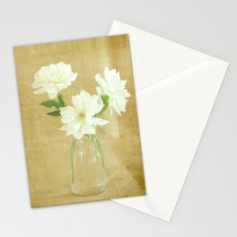 Burlap and Roses Stationery Cards