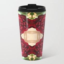 Old Red Rose Kaleidoscope 1 Travel Mug