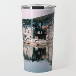 VILLAGE - HOUSE - RIVER - REFLECTION - PHOTOGRAPHY Travel Mug