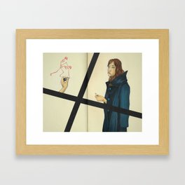 Riding With Death Framed Art Print