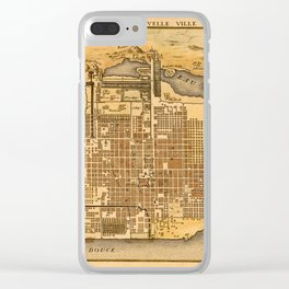 Map Of Mexico City City 1715 Clear iPhone Case