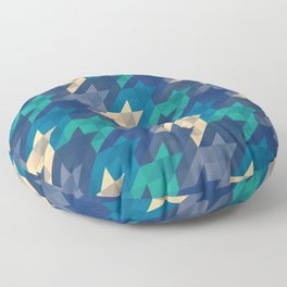 Origami houndstooth blues Floor Pillow