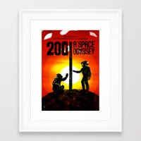 2001 a space odyssey Framed Art Prints featuring 2001: A Space Odyssey by Dan K Norris