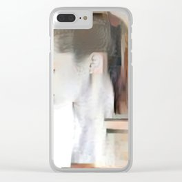Female Sideview Clear iPhone Case