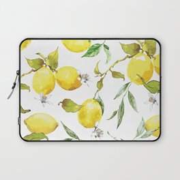 Watercolor lemons 8 Laptop Sleeve