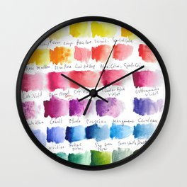 Watercolour Swatches Wall Clock