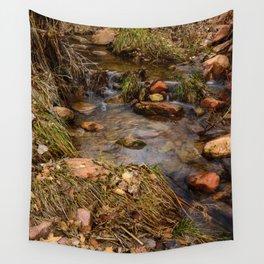 Winter Stream 1009 - Zion National Park, Utah Wall Tapestry