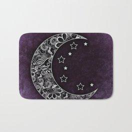 Purple Abstract Moon Bath Mat