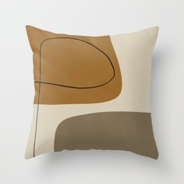 Organic Abstract Shapes #1 Throw Pillow