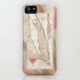 1842 Map of Long Island iPhone Case