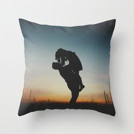 WOMAN - MAN - MOON - SUNSET - PHOTOGRAPHY Throw Pillow