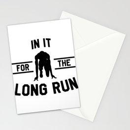 Athletics love marathon long  Run gift Stationery Cards