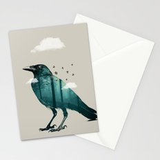Teal Raven Stationery Cards