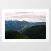 From The Pyrenees  Art Print