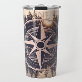 Rose Gold Compass Forest Travel Mug