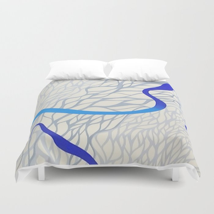 blu river Duvet Cover