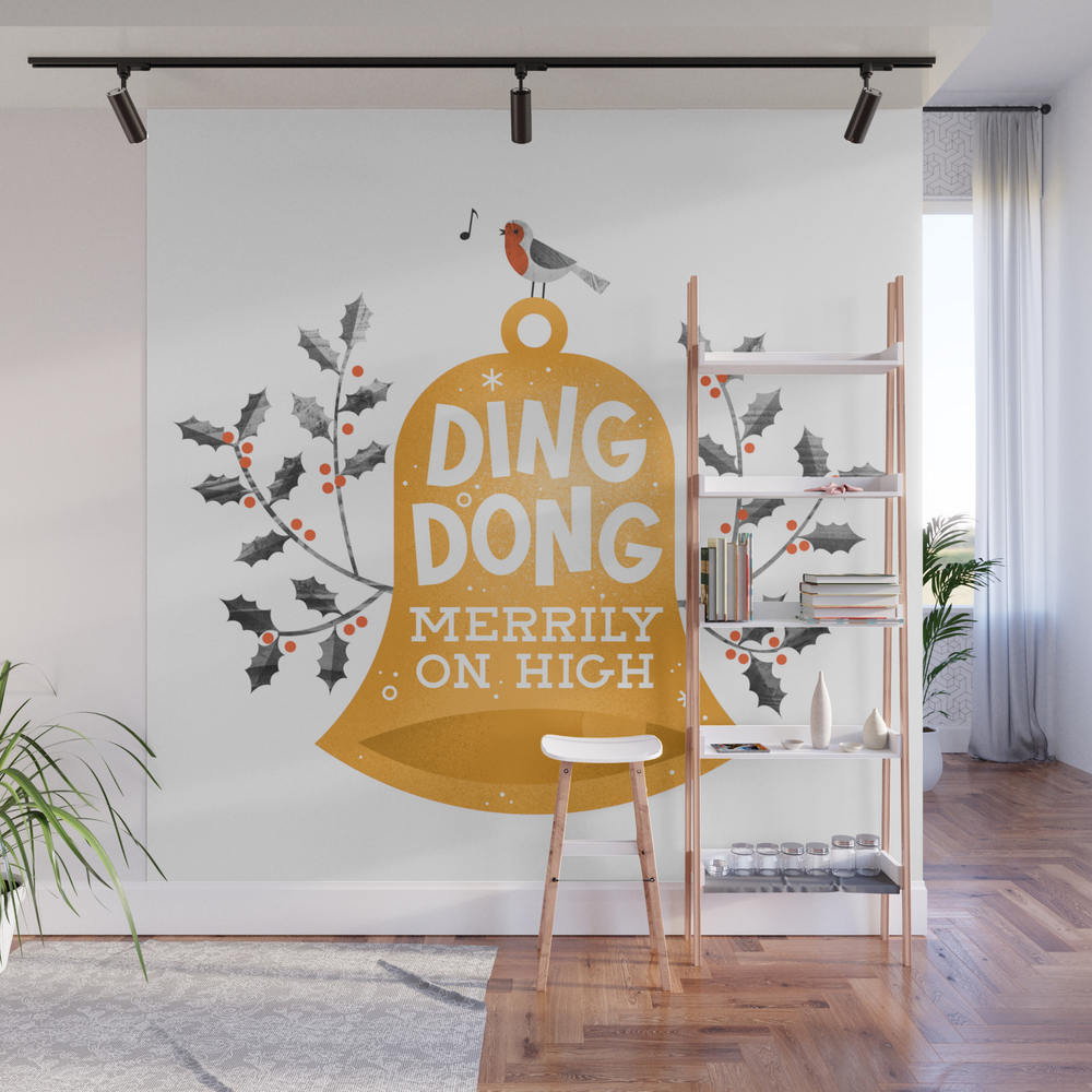 Ding Dong Merrily On High Wall Mural by Wharton WMP8269307