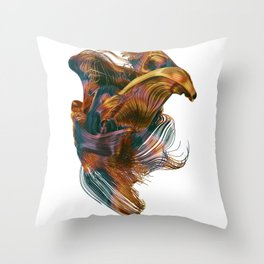 Chaotic Lines #2_color Throw Pillow