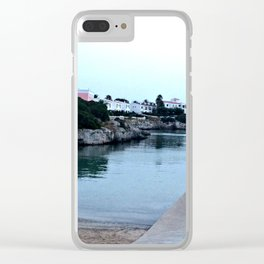 Hidden Beach in Ciutadella Clear iPhone Case
