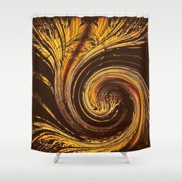 Golden Filigree Germination Shower Curtain