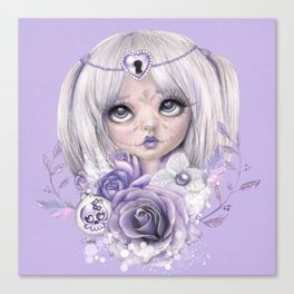 Lavender Grey - Sugar Sweeties - Sheena Pike Art & Illustration Canvas Print