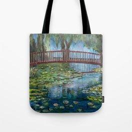Lilly Pads at Lake Te Koutu - Monet Inspired Tote Bag
