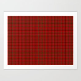 Clan Stewart Tartan Art Print