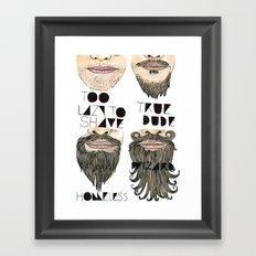 the beard chart of dudeliness Framed Art Print