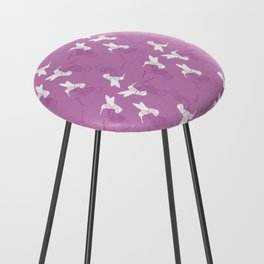 Humming Bird Pink Counter Stool