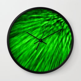 Emerald Pixel Wind Wall Clock