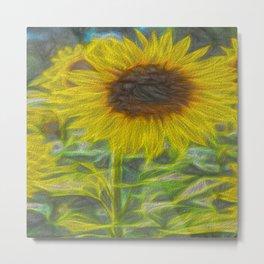 Art Of The Single Sunflower Metal Print