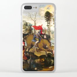 Saint George and the Dragon Oil Painting by Sodoma Clear iPhone Case