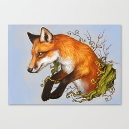 Adventurous fox Canvas Print