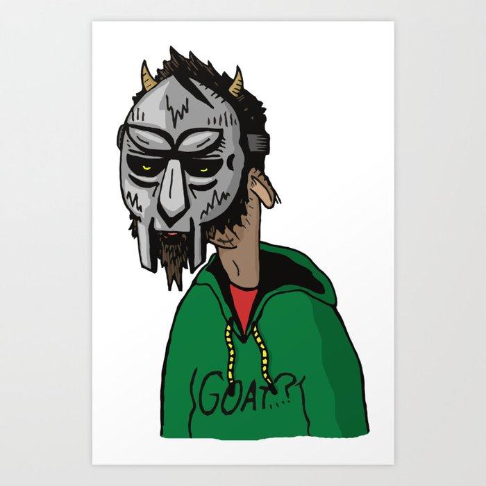 Mf Doom Goat Art Print By Goatsgear Society6