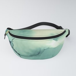 Abstract watercolor green 01 Fanny Pack