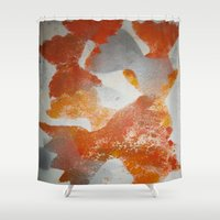 pasta Shower Curtains featuring Pasta in repeat pattern by Stefanie Sharp