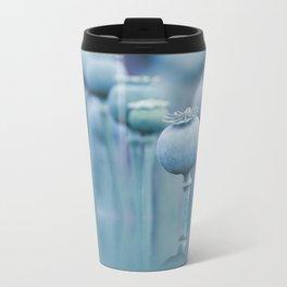 Poppy capsules blue style Travel Mug