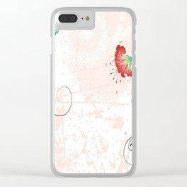 Art Flowers V14 Clear iPhone Case