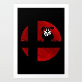 Smash and Laugh (red) Art Print