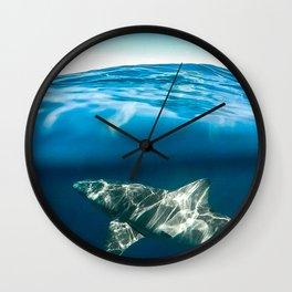 Shark Paradise Below Wall Clock