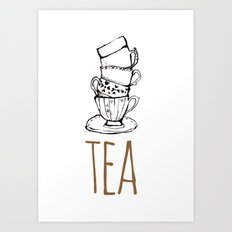 Just Tea Art Print