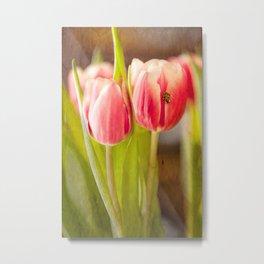 The Tulip and the Ladybug Metal Print